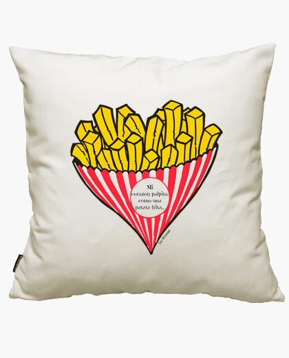 My heart throbs ... (spanish). cushion cover