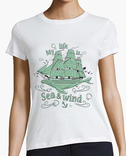 Camiseta My life is sea & wind