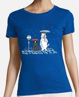 my neighbor ghost woman t-shirt