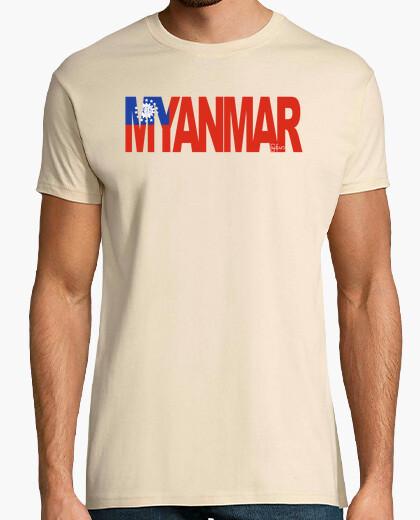 Camiseta MYANMAR (BANDERA)