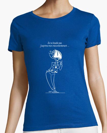 Tee-shirt N°8 Mécontentement blanc by Stef