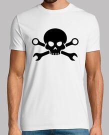 n schädelknochen pirat schraube 1 (schwarz)