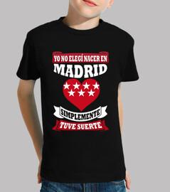 Nacer en Madrid Tuve Suerte