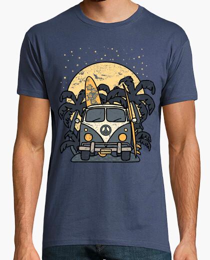 T-Shirt Nachtsurfen mit furgoneta vintage