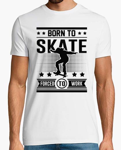 Camiseta nacido a patinar