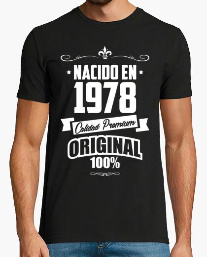 Camiseta Nacido en 1978, Calidad Premium, 41 años