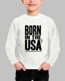 nacido en los estados unidos - manga larga infantil