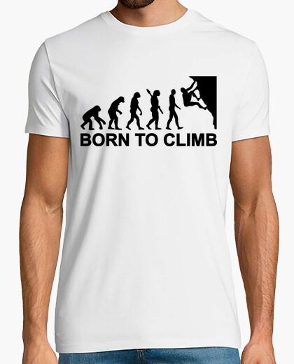 Camiseta nacido evolución de la escalada