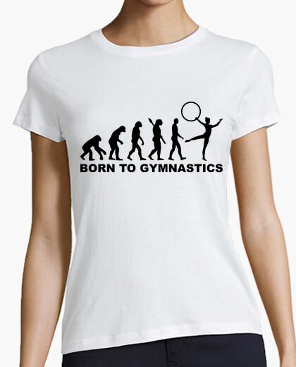 Camiseta nacido evolución de la gimnasia