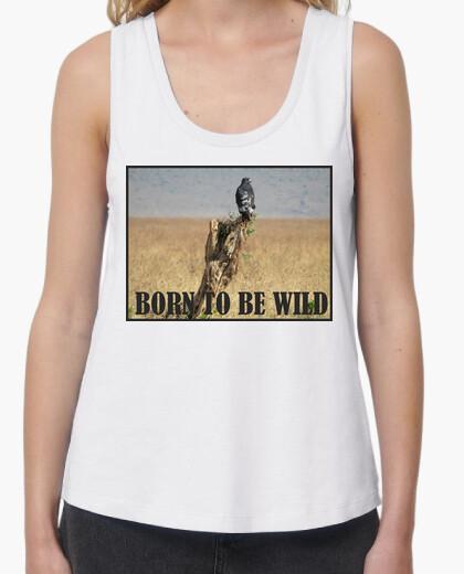 Camiseta nacido para ser wild_top fuera mujer