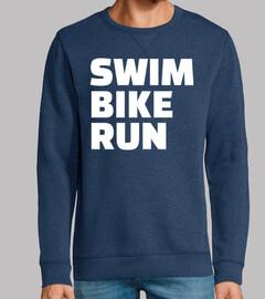nadar en bicicleta