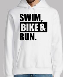 nager en vélo