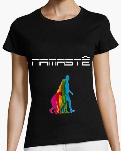 Camiseta Namastê Clr Regular Negra