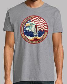 Nasa Eagle Rocket Flag