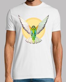 natur - pájaro - geometrie. text: verbreiten sie ihre flügel und fliegen hoch