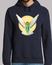 Naturaleza - Pájaro - geometría. Texto: Despliega tus alas y vuela alto
