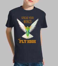 nature - oiseau - géométrie. texte: étaler vos ailes et voler haut