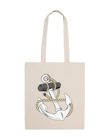 naval anchor with rope