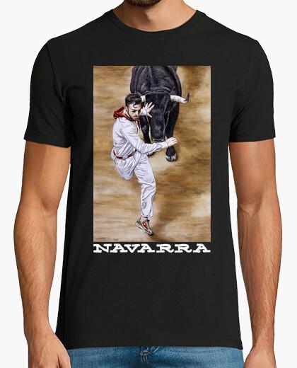 Navarra fondo oscuro - Camiseta de manga...