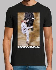 Navarra fondo oscuro - Camiseta de manga corta