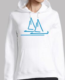 nave a vela blu