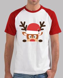 Navidad camiseta Hombre, estilo béisbol