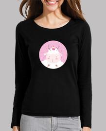navidad ovejas - date pleasures- diminuta mujer de manga larga camiseta