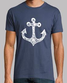 navy ancoraggio bianco (girocollo)