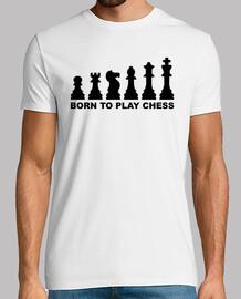 né à jouer évolution d'échecs