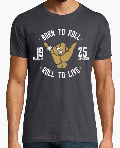 Tee-shirt né à roll- t-shirt jiu-jitsu brésilien