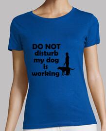 ne not déranger mon chien travaille