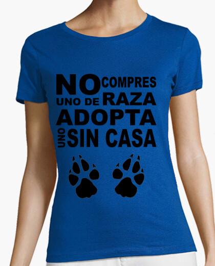 Tee-shirt ne pas acheter un de race, d'adopter un sans c