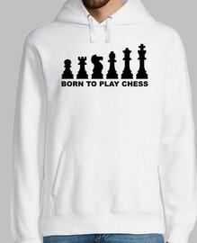 né pour jouer à l39évolution des échecs