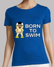 né pour nager femme