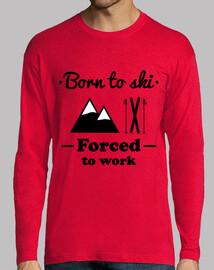 Né pour skier,obligé de travailler ! Ski