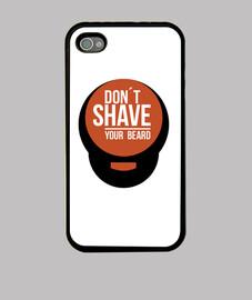 Ne rase pas ta barbe noir