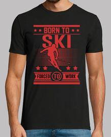 né skier forcé de travailler