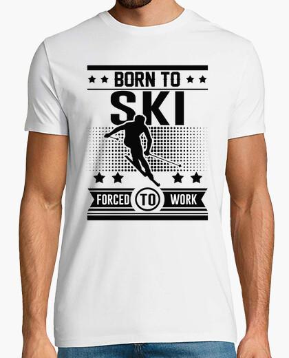 Tee-shirt né skier forcé de travailler