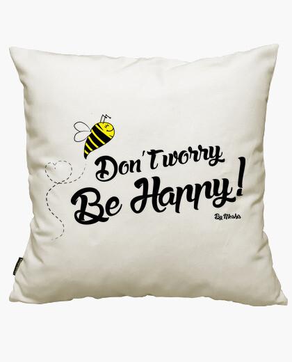 Housse de coussin ne vous inquiétez pas, soyez heureux!