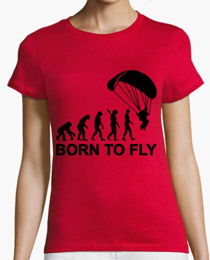 Tee-shirt né pour voler saut en parachute d'évolution