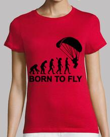 né pour voler saut en parachute d'évolution