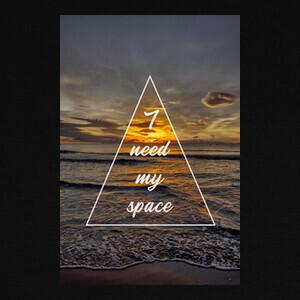Camisetas necesito mi espacio y la playa