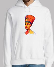 Nefertiti by Aitana Perez, Hombre, jersey con capucha, blanco
