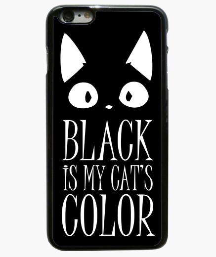 Funda iPhone 6 Plus / 6S Plus negro es mi color de los gatos