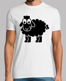negro ovejas cómica