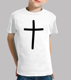 negro símbolo de la cruz