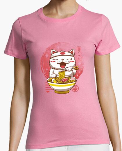 Camiseta neko ramen camisa mujer