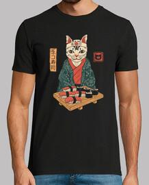neko sushi bar camiseta para hombre