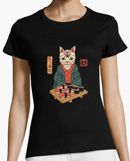Tee-shirt neko sushi bar chemise femme