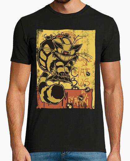 Tee-shirt Nekobus, le chat noir affiche
